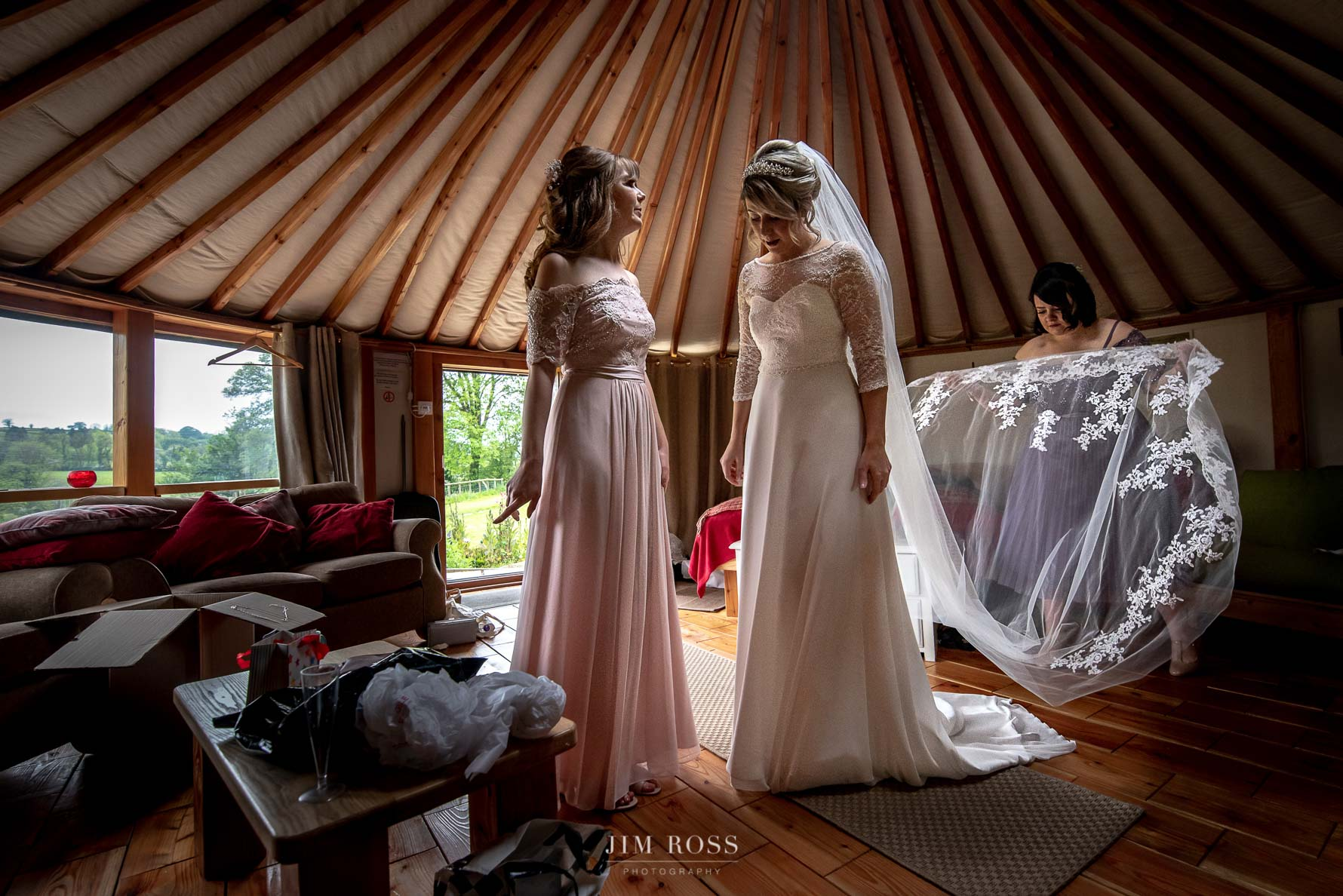 Fanning the veil at Welsh Yurt