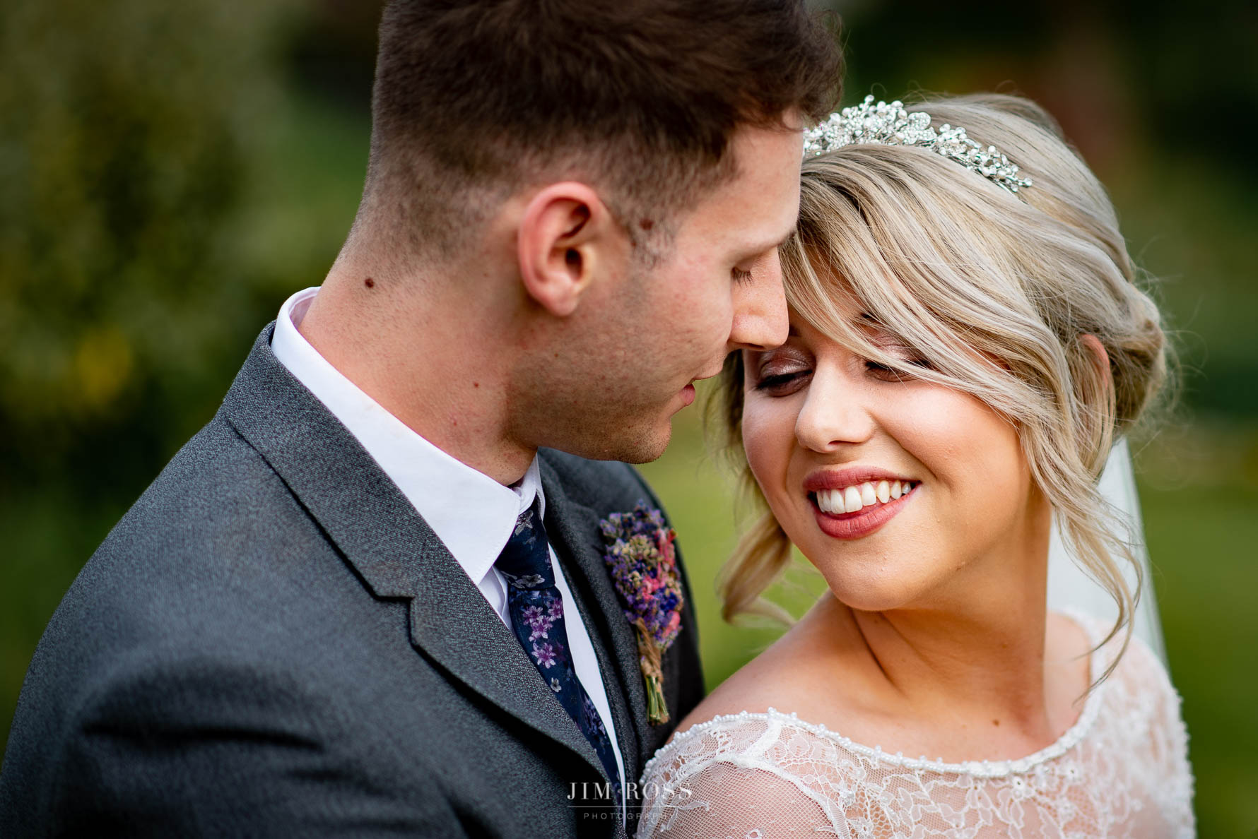 Welsh Yurt Wedding Portrait