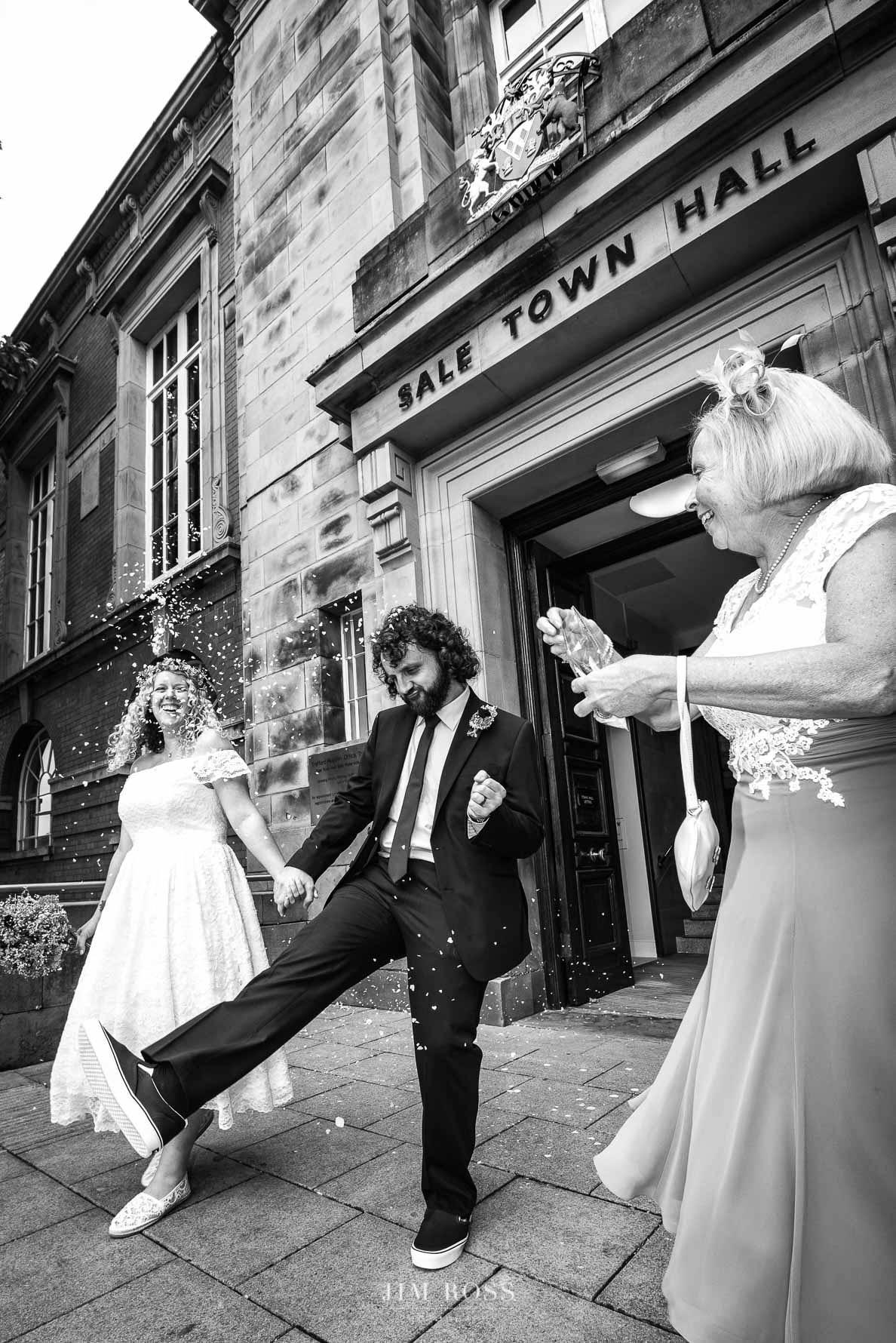 Sale wedding groom celebrates