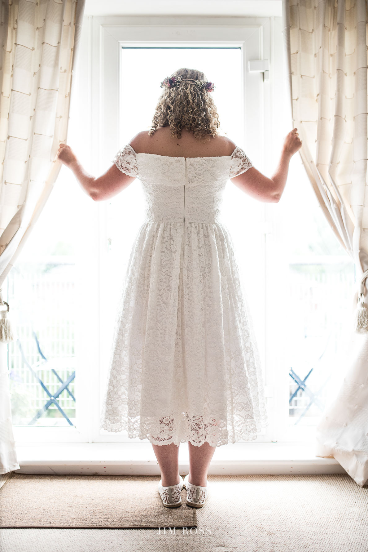 Sale wedding bride in window