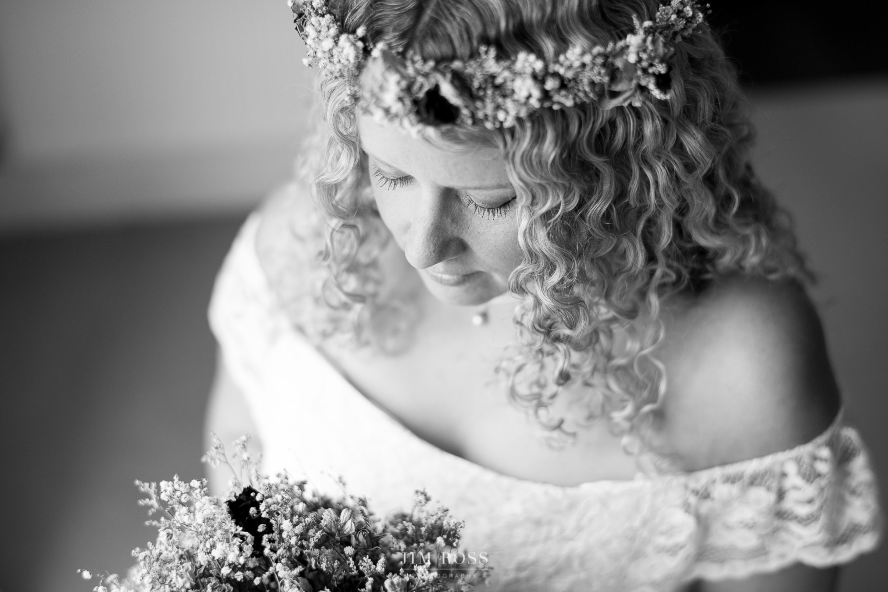 Sale wedding bride to be in contemplative moment