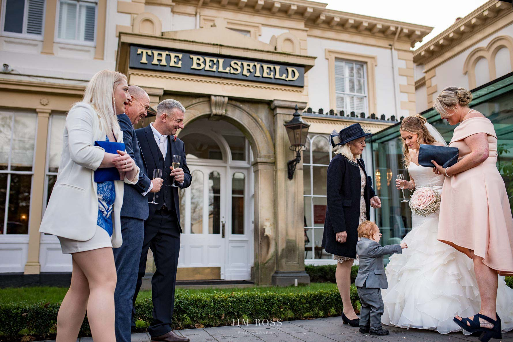 Bride's son wants a hug at Belsfield Hotel
