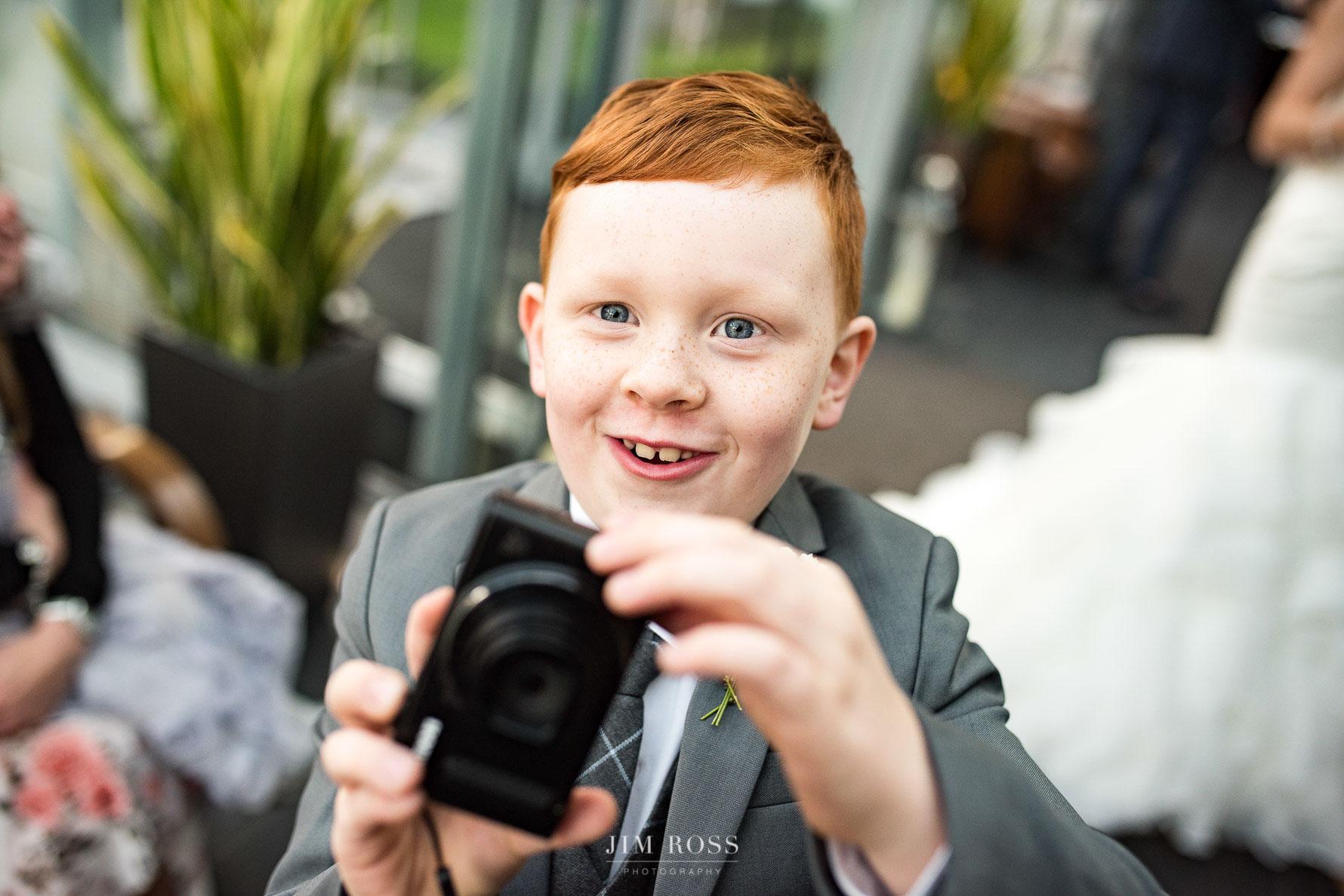 A budding wedding photographer