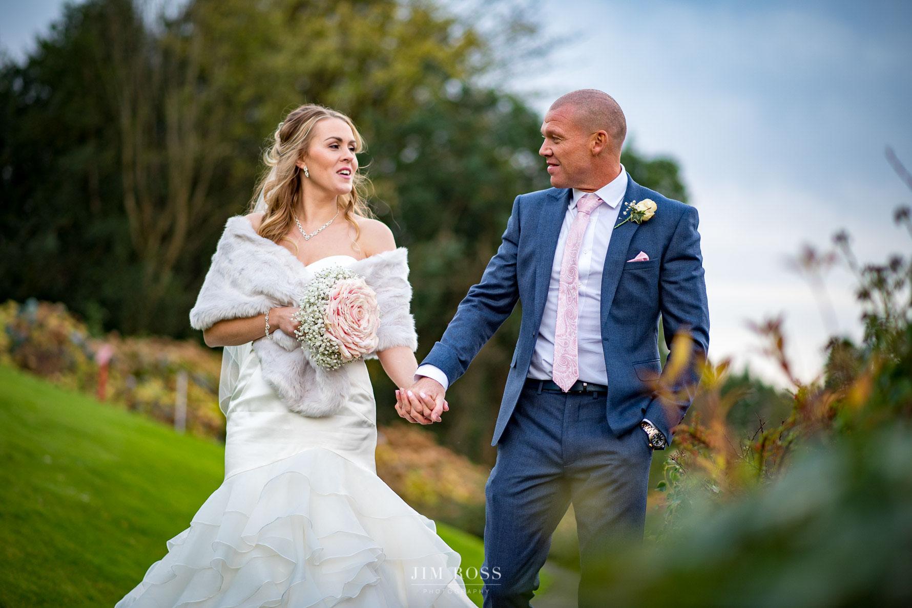 Romantic wedding walk in Lake District hotel