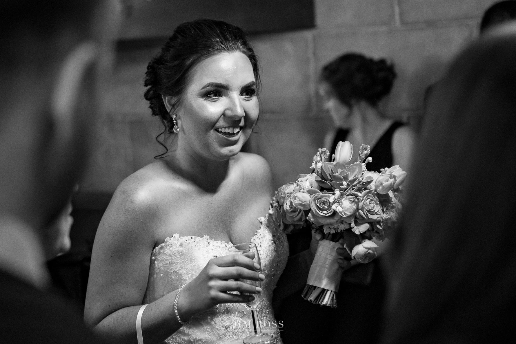 Bride arrives to greet guests