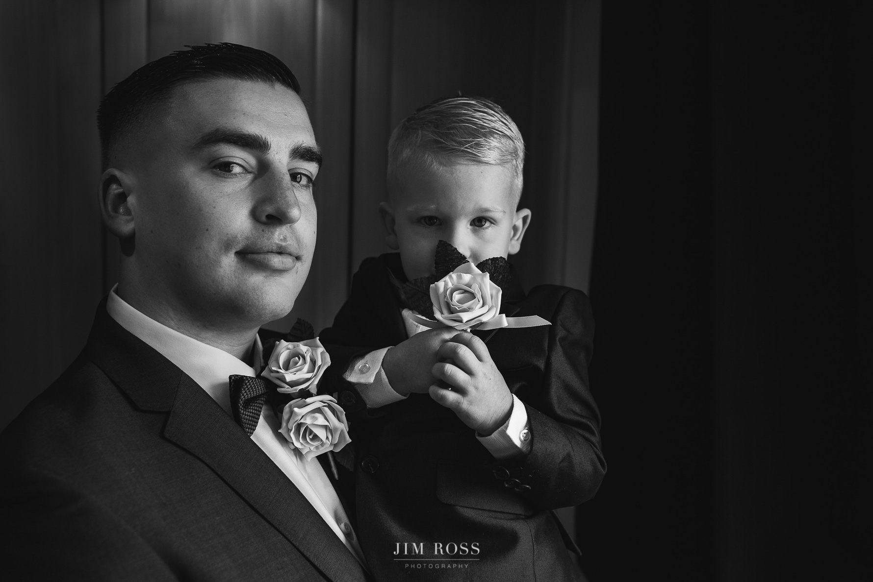Groom and son ready for action
