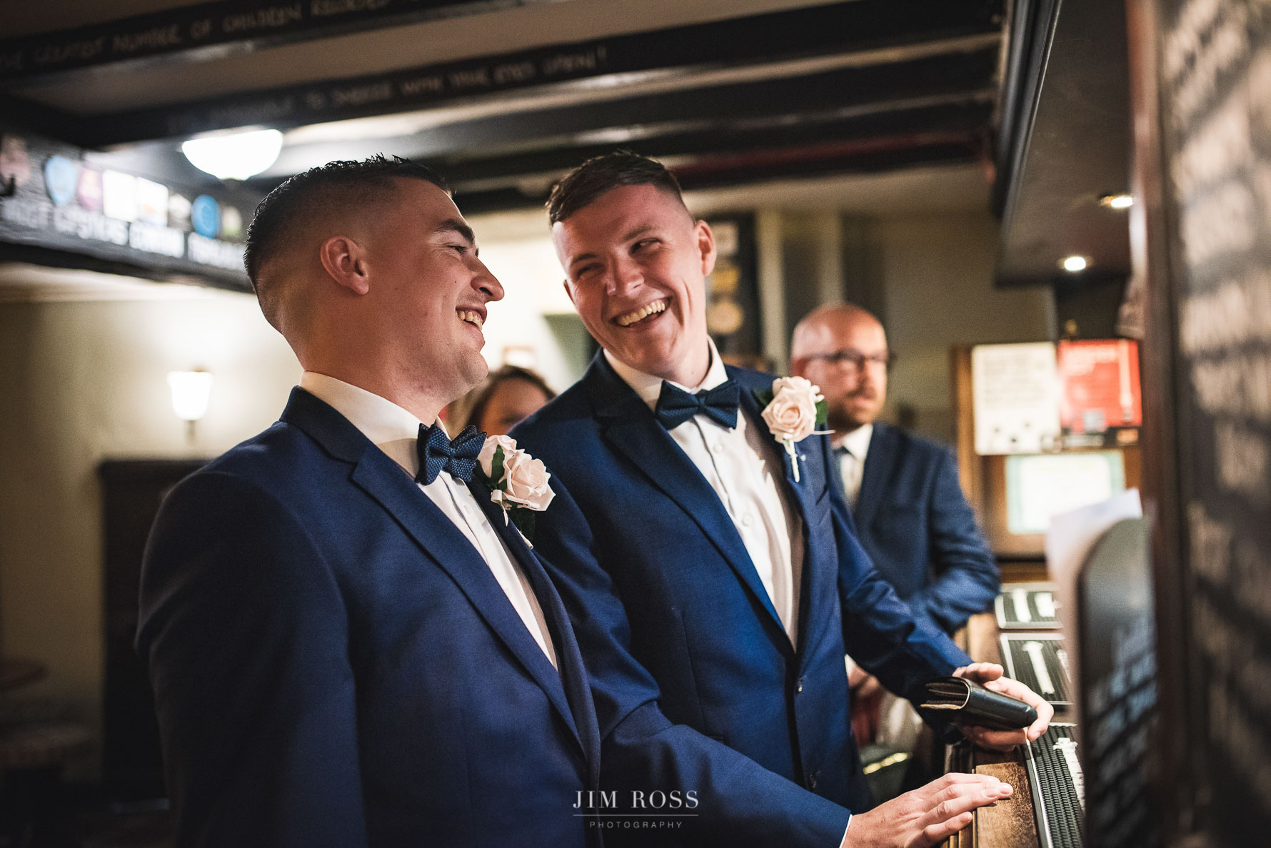 Pub and pint time for best man and groom