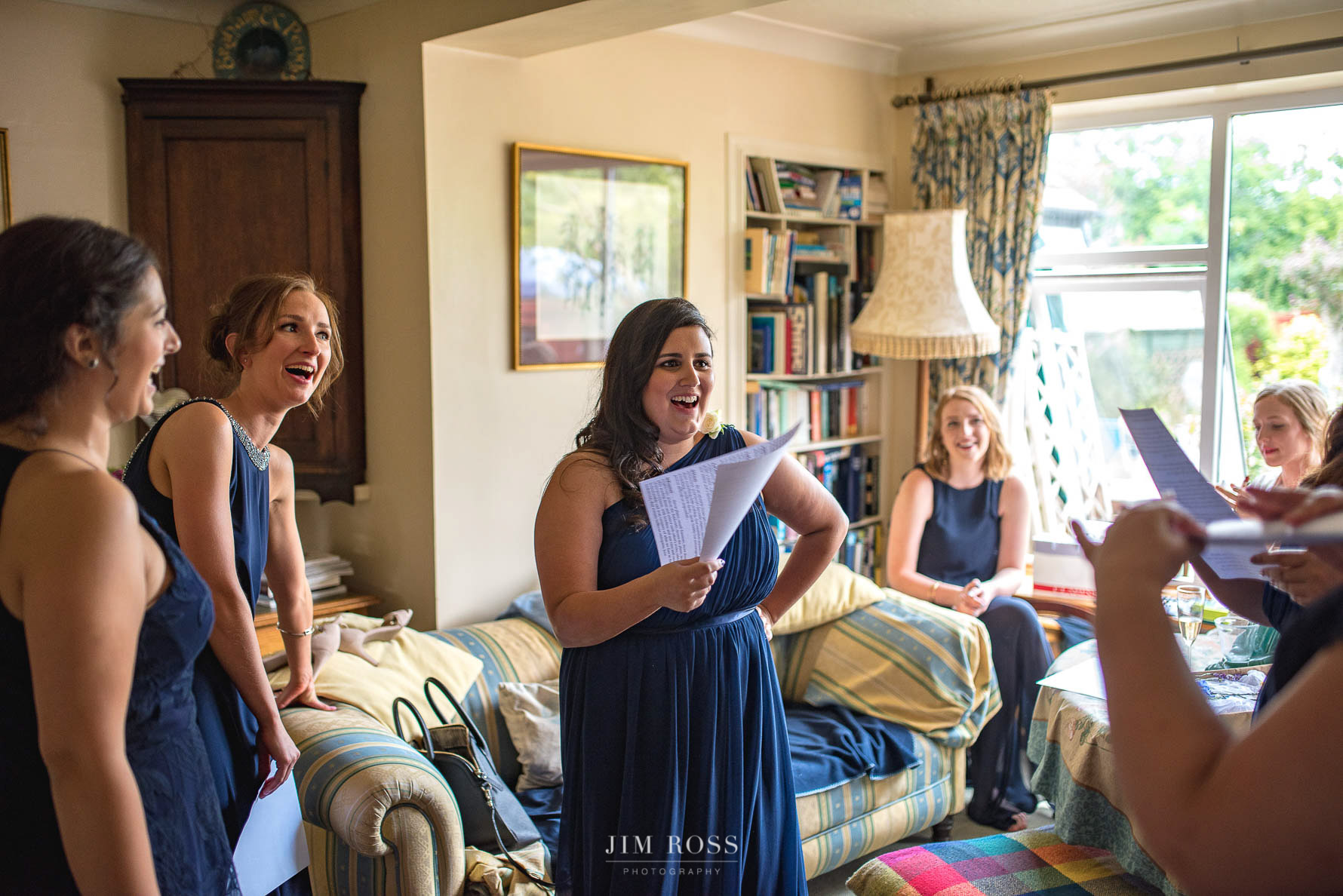 Rehearsing the bridesmaids special ceremony speech