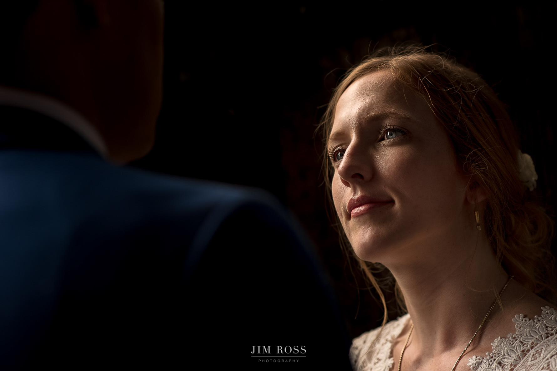 Bridal portrait in beautiful light