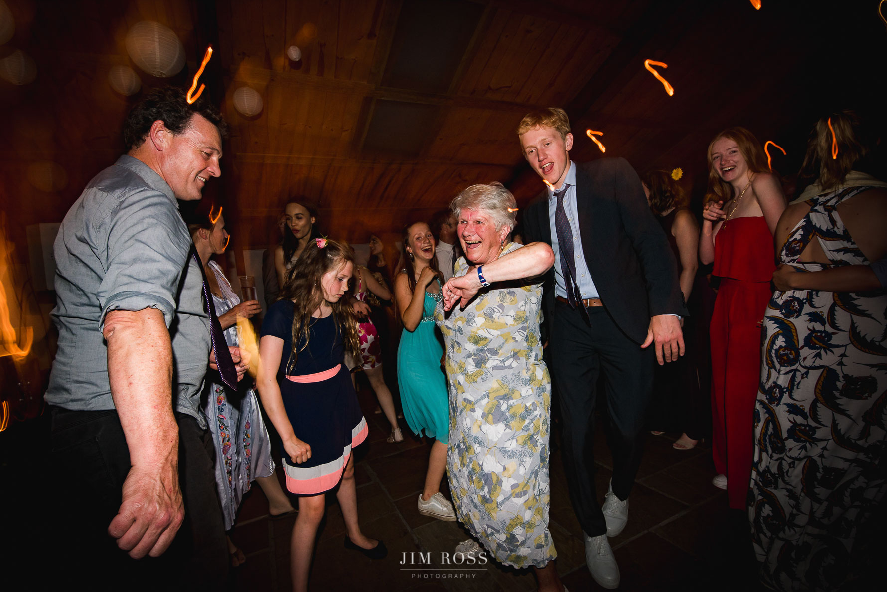 Gran holding her own on the dance floor