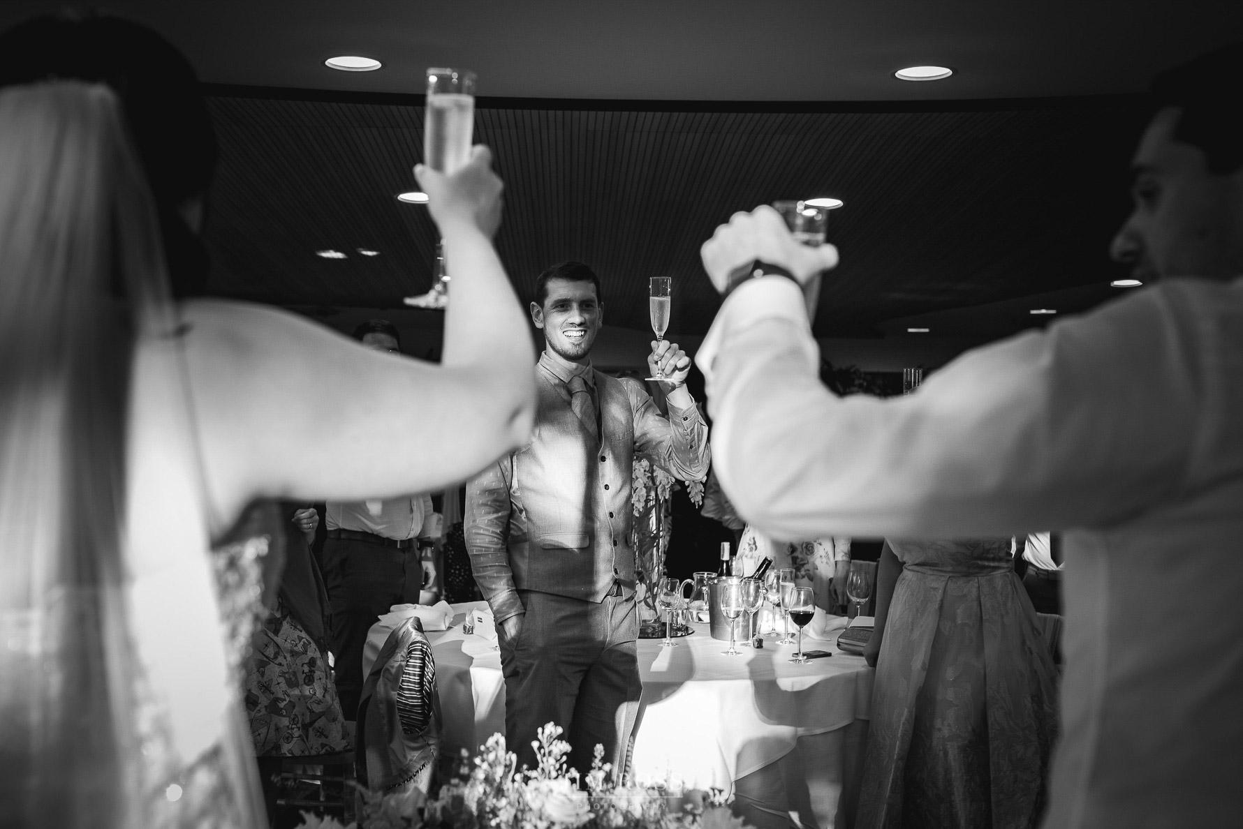 Toast time at wedding speech