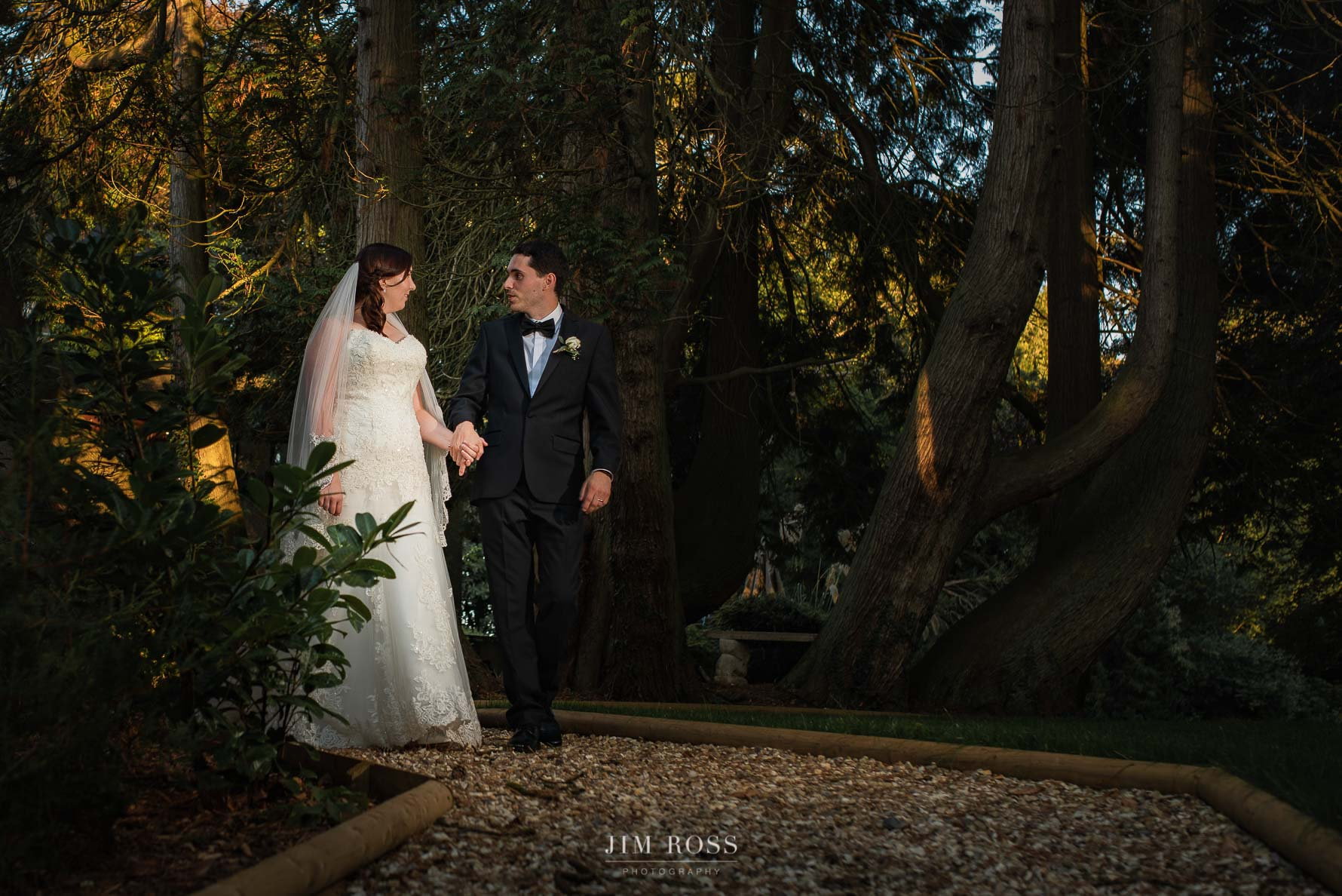 Couple portrait in enchanting gardens