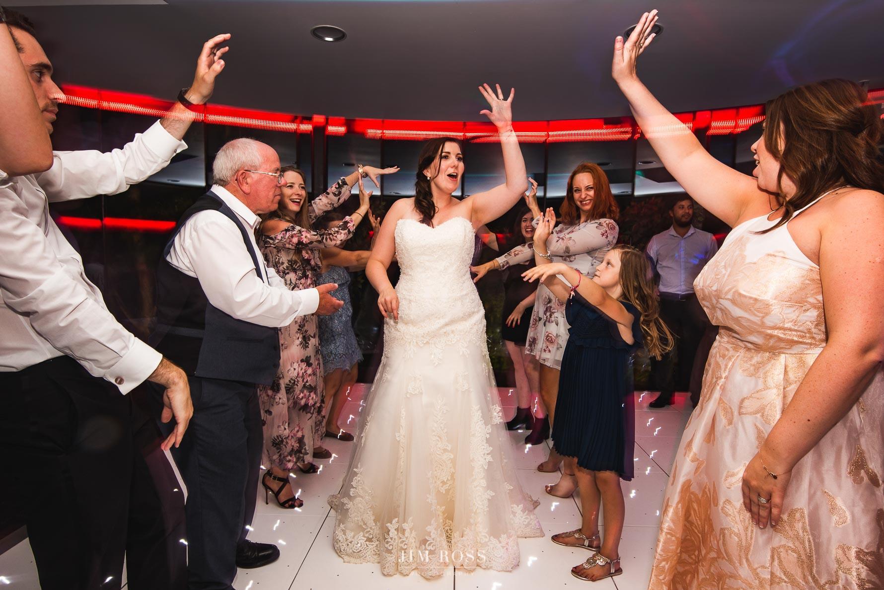 Bride loving her moment