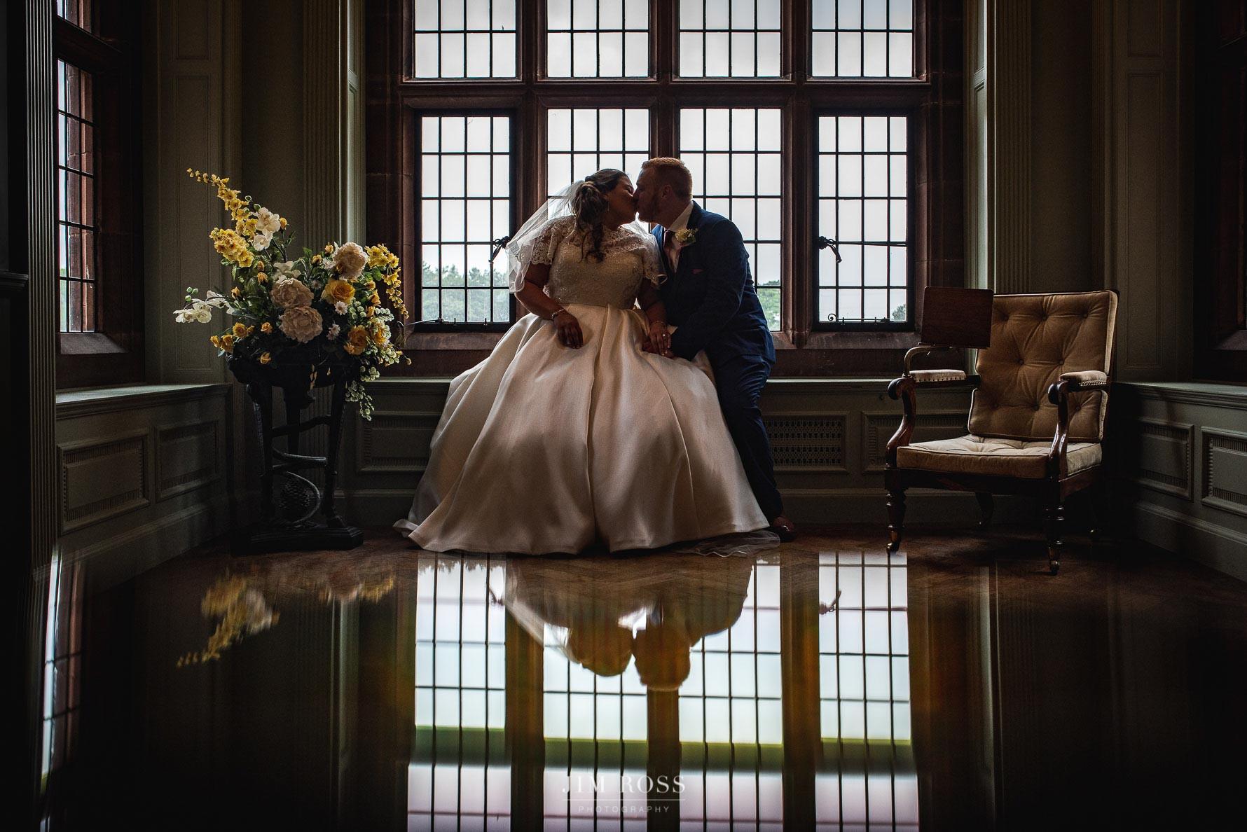 Bridal portrait in elegant Georgian room