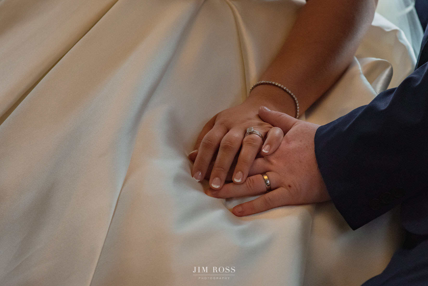 Wedding rings on hands