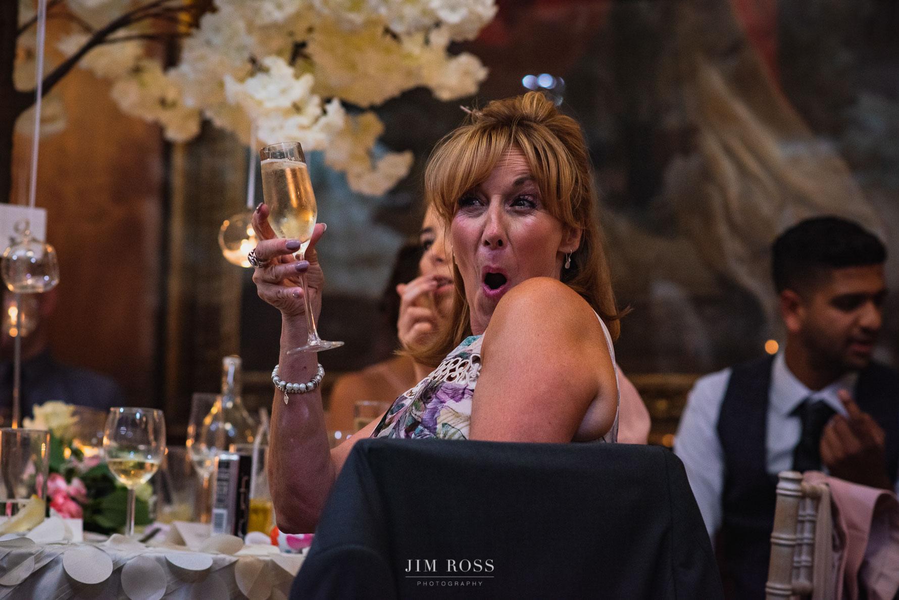 Opulent dining room and fun speech