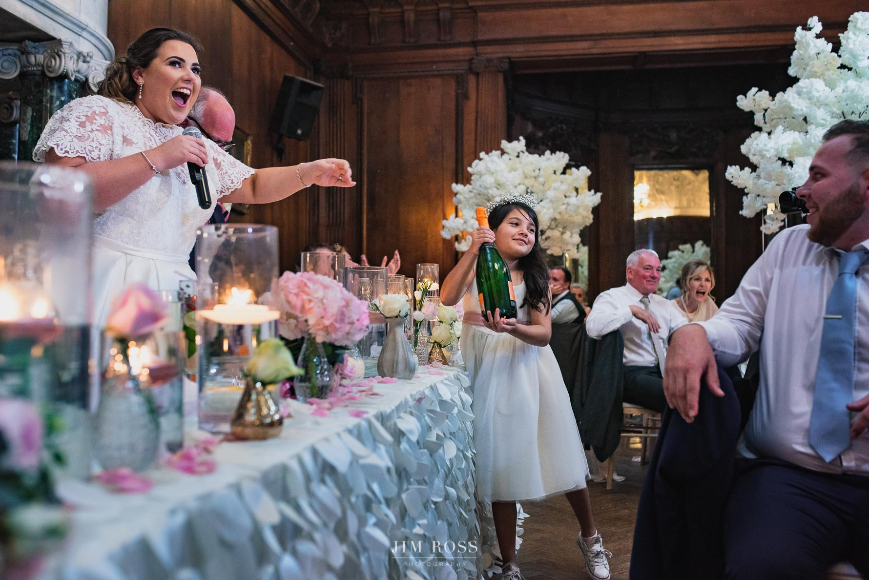 Bride takes a turn at speeches