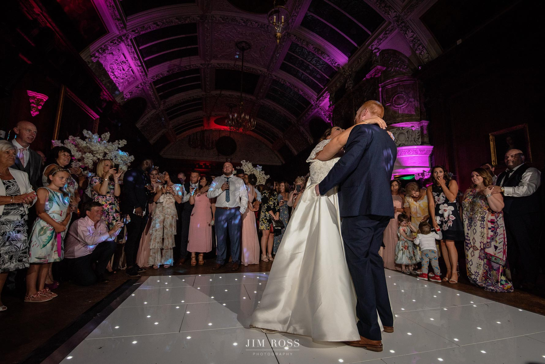 First dance in opulent grand room
