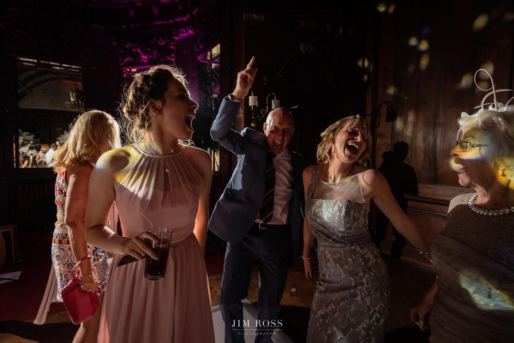 Wedding guests dancing moves