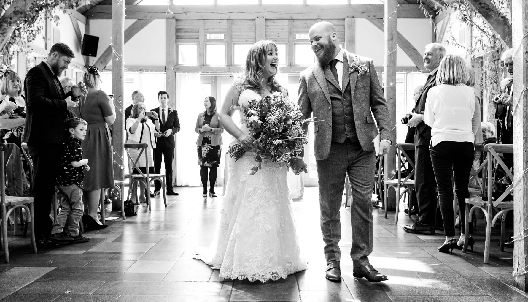 Just married at Oak Tree of Peover