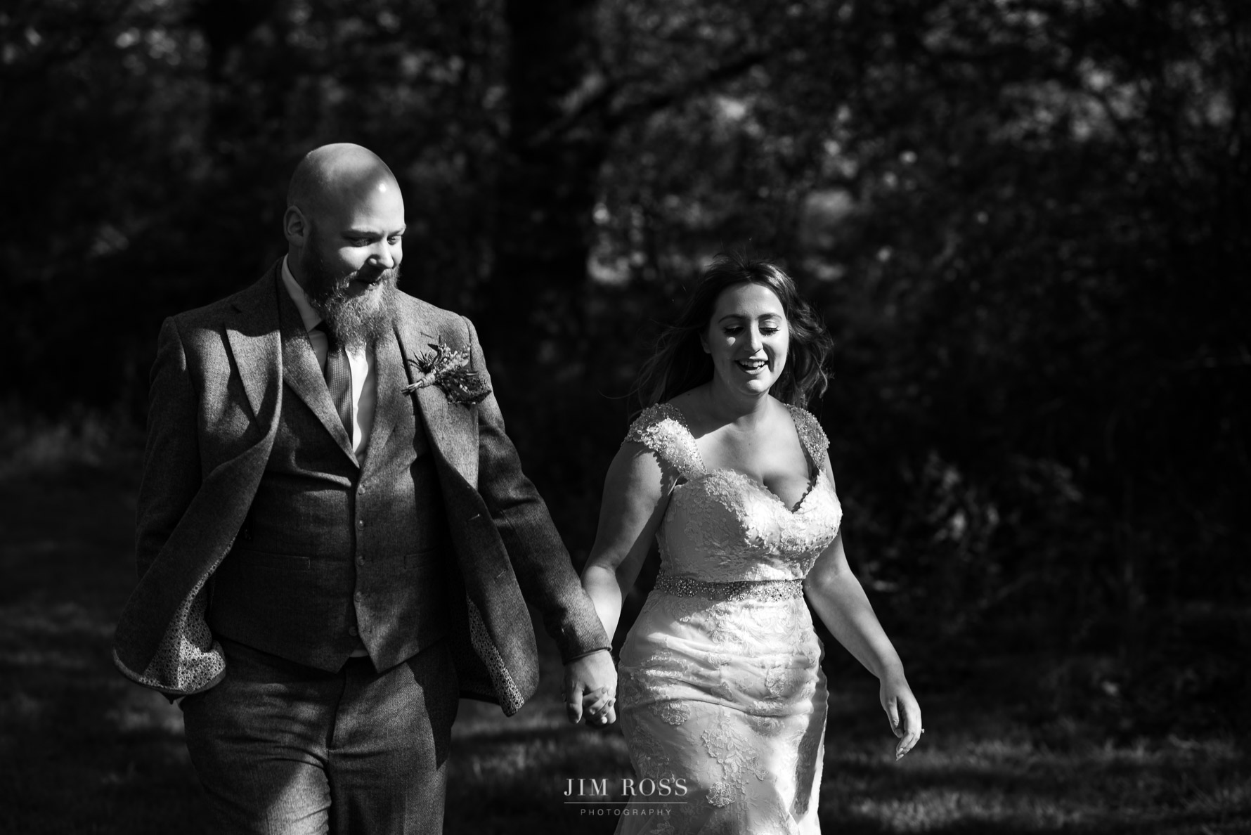 Oak Tree of Peover wedding portrait mono