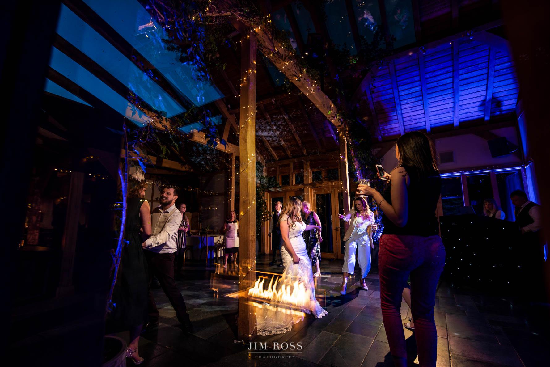 Wedding dancing and reflections