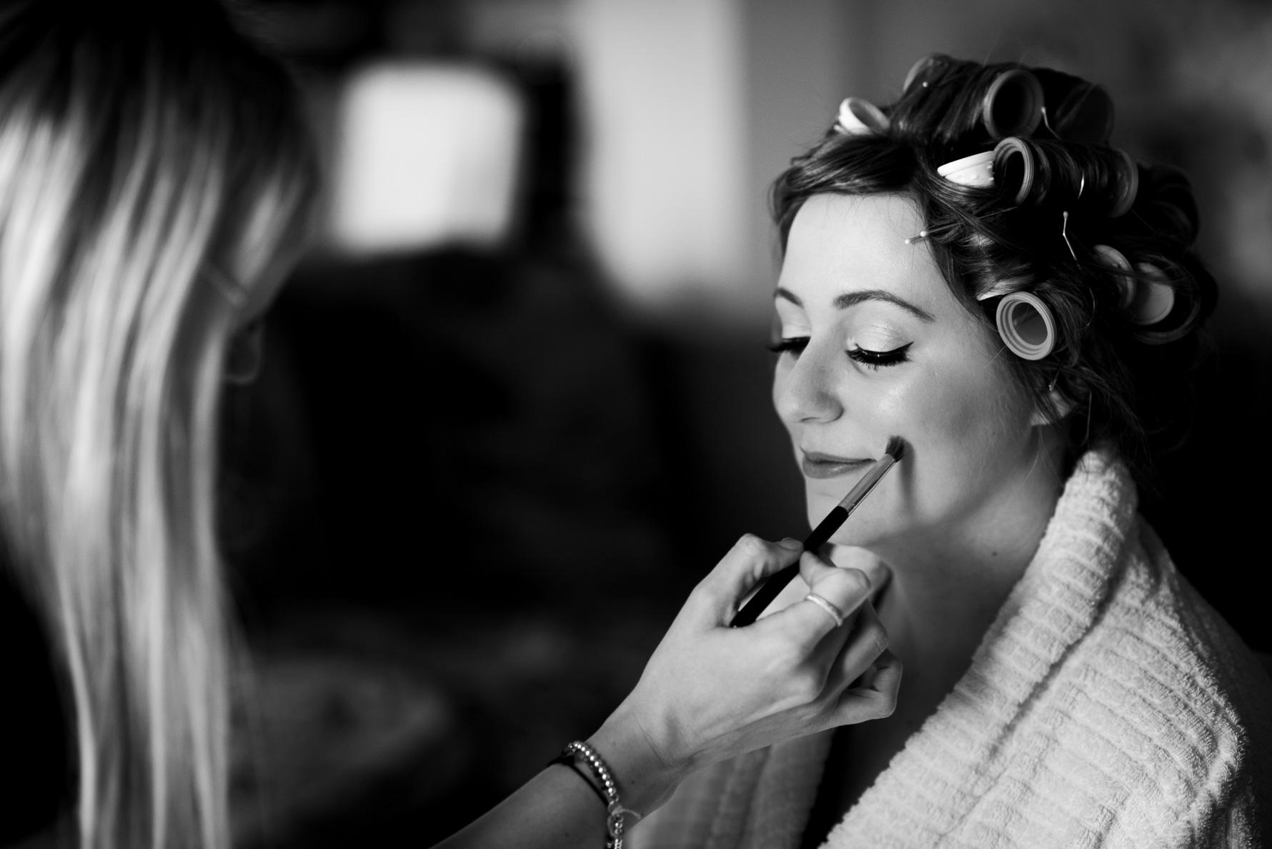 Bridal make-up prep