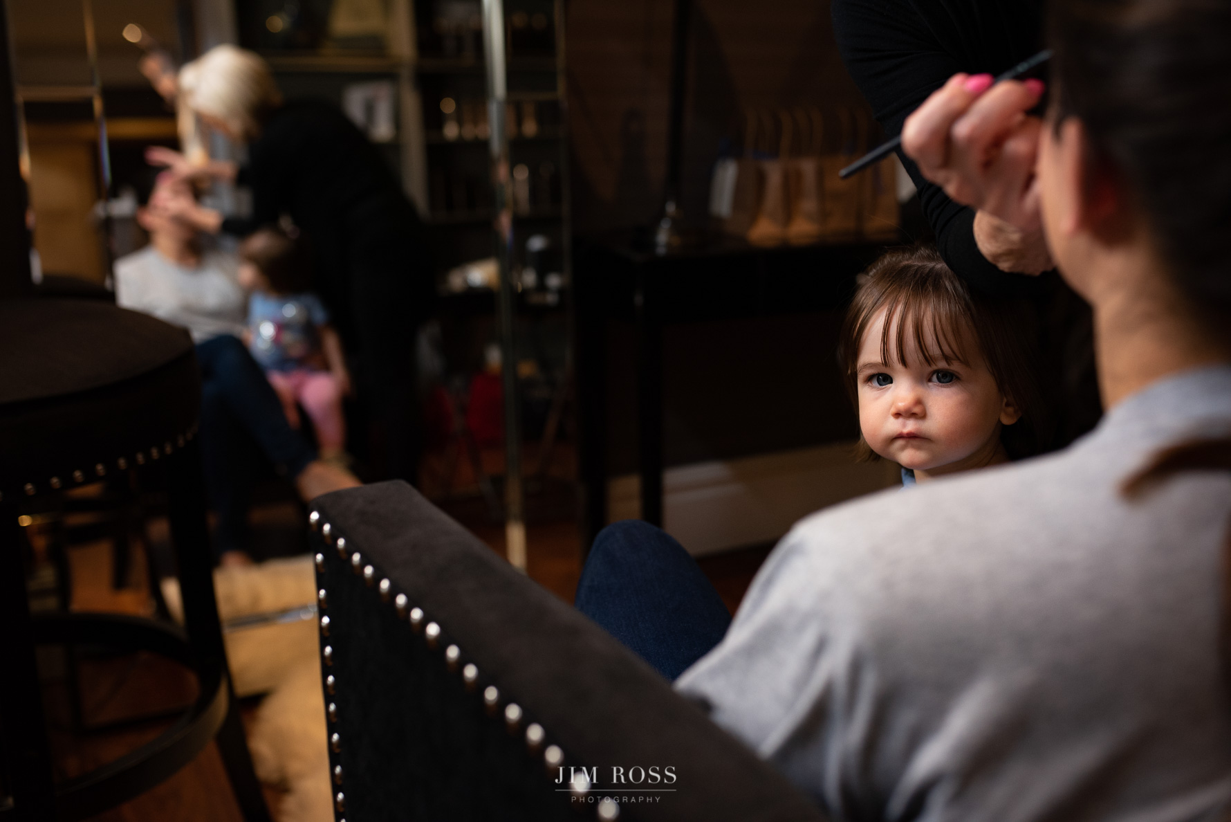 Cheeky glance from flower girl