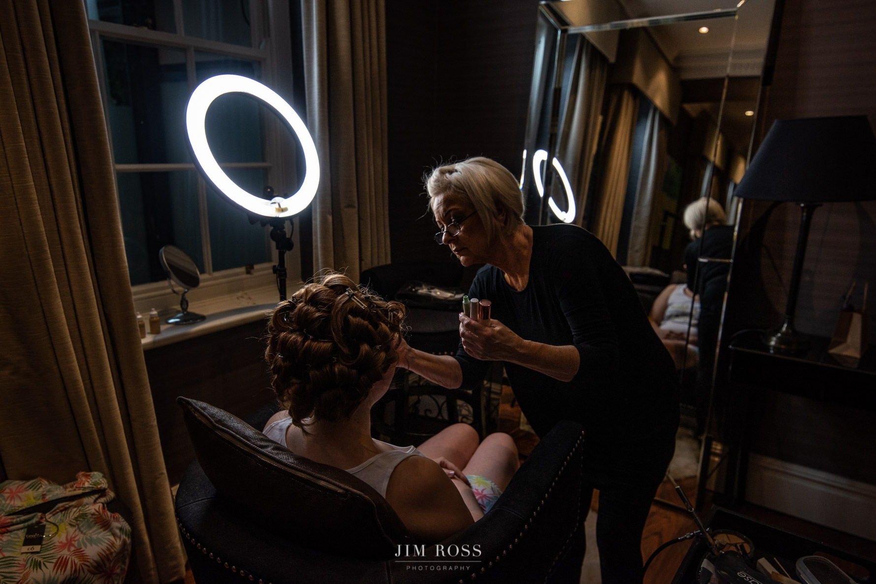 Hair and make up in beauty room