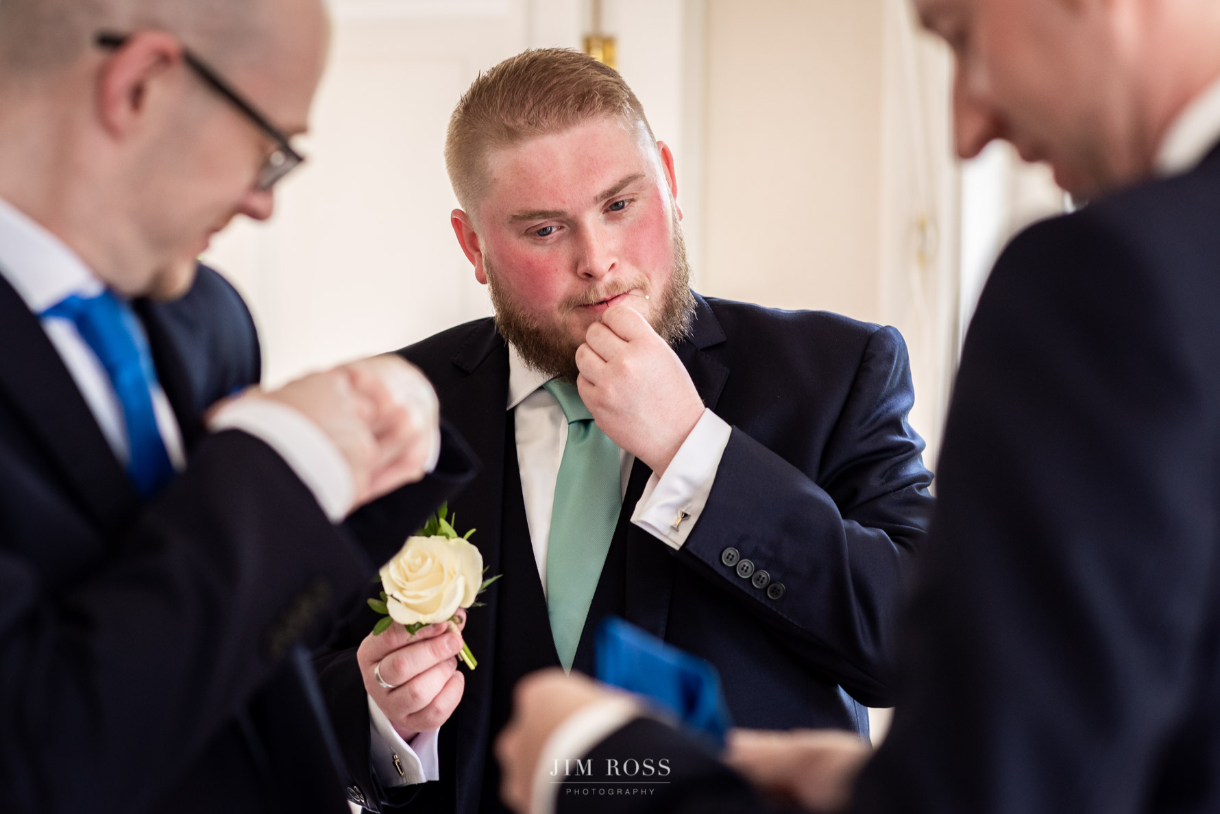 Putting on buttonholes