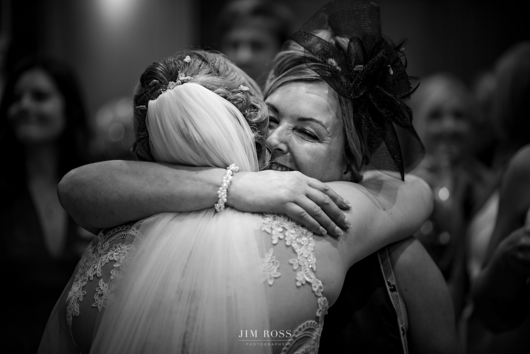 Hug for the new bride