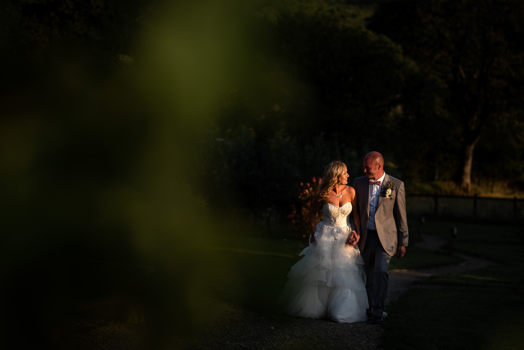 Evening sun at Welsh Yurt Weddings