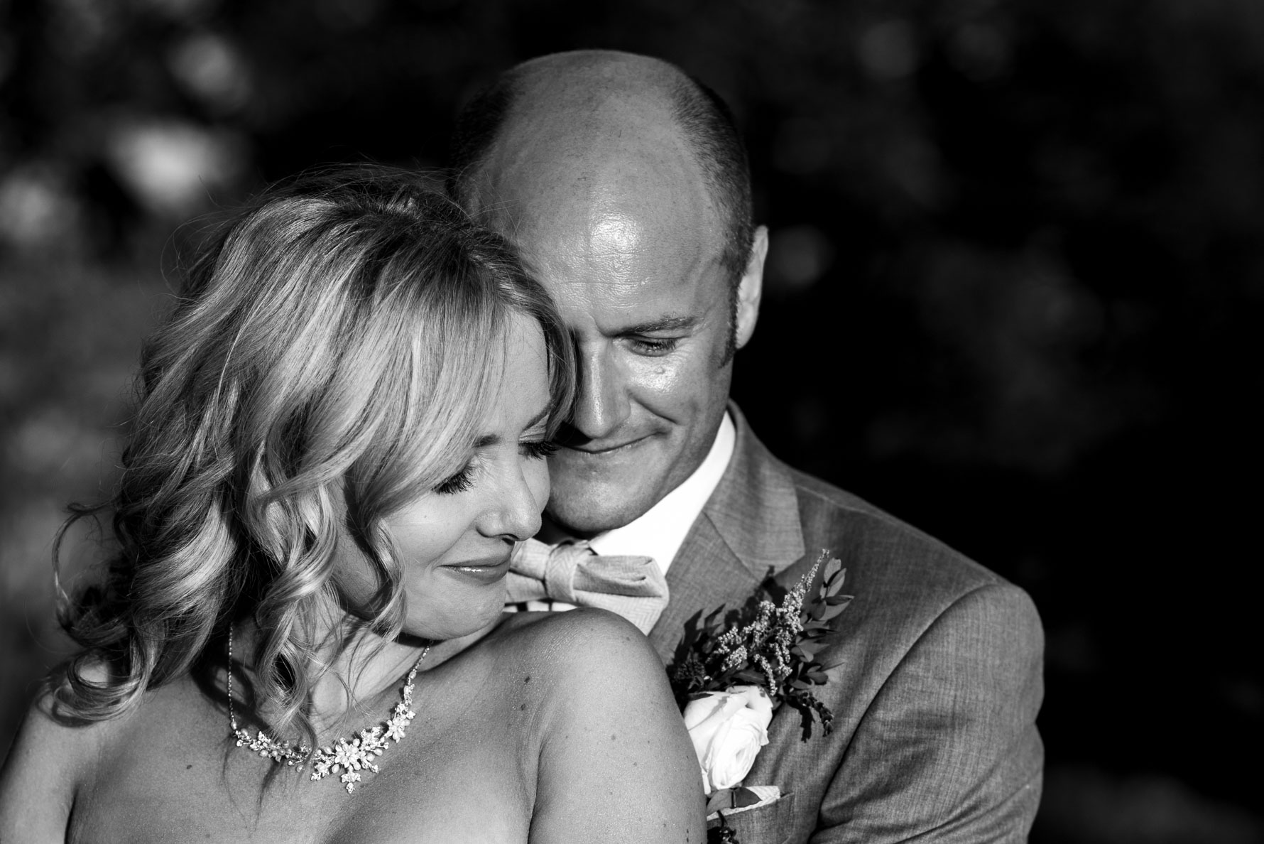 Newlywed portrait Welsh Yurt wedding