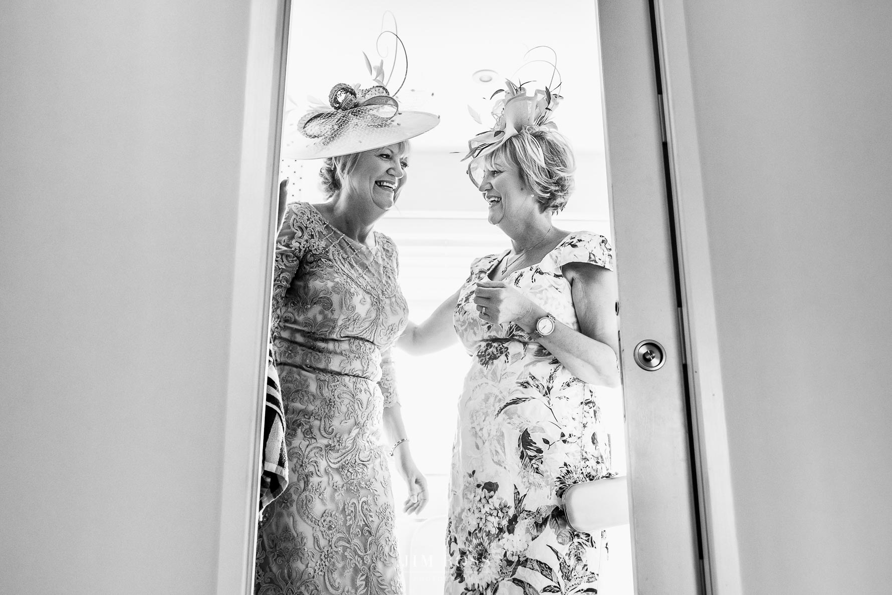 Twins in their wedding finery