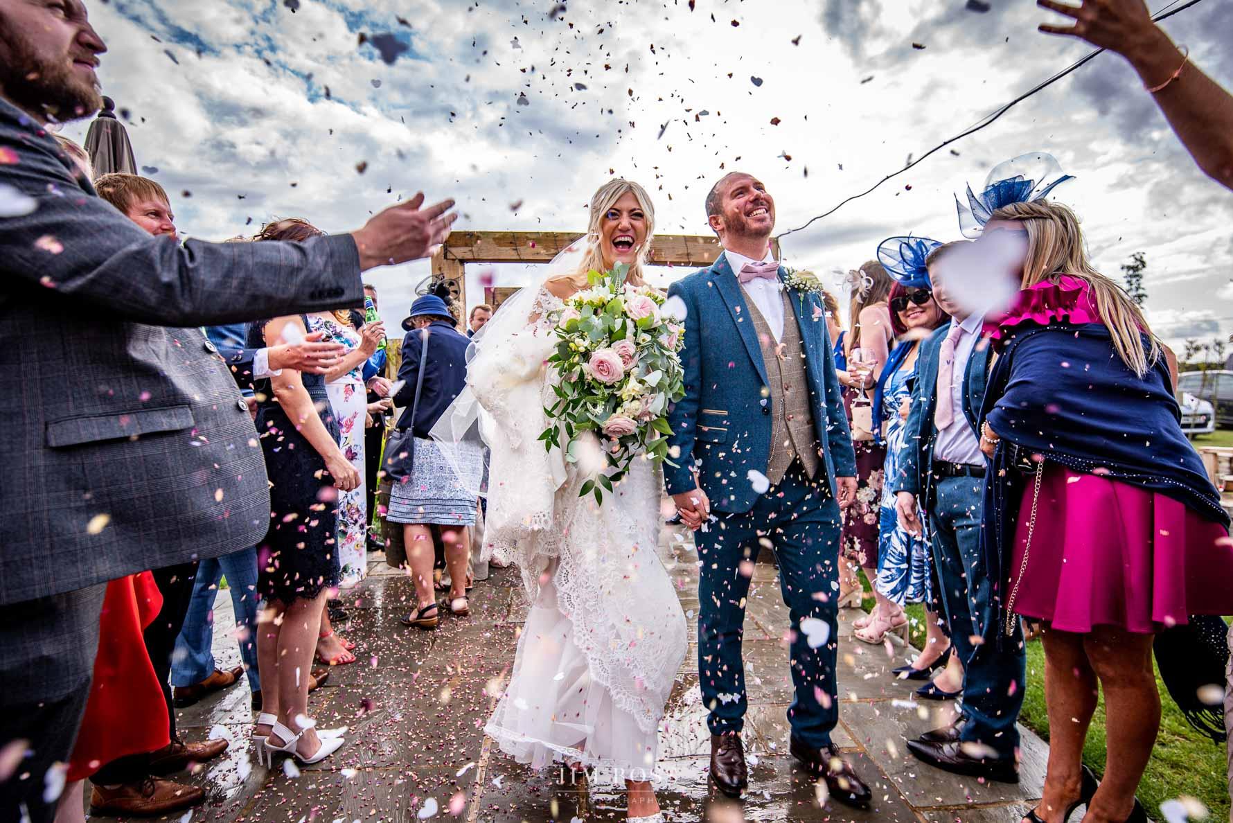 Confetti at The Beverley Barn