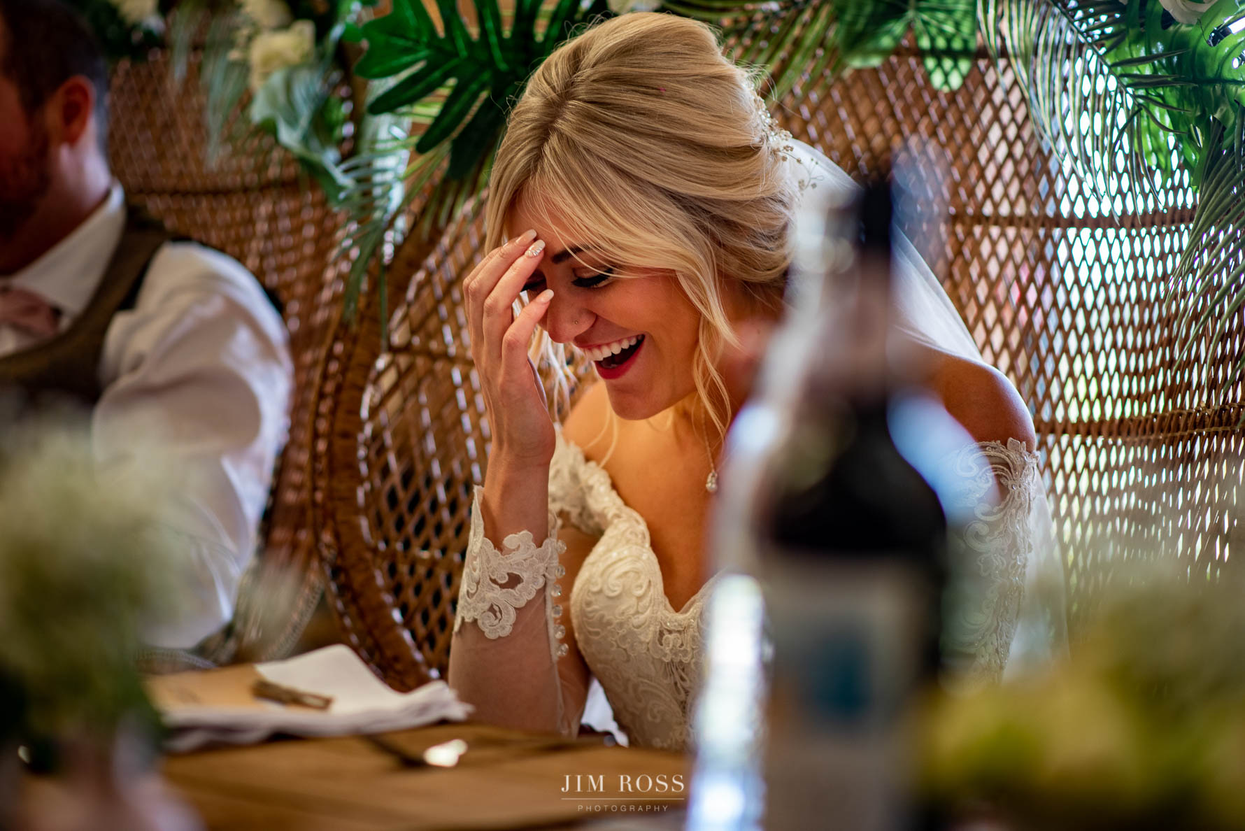 Bride feeling the moment