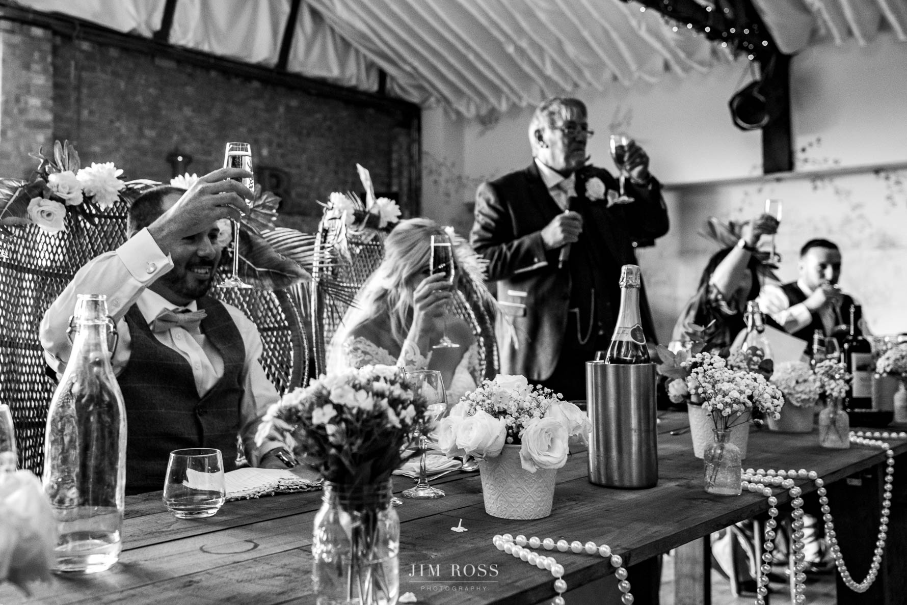 Raising a glass at the Beverley Barn