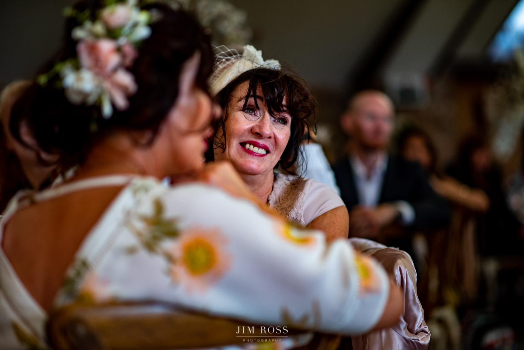 Emotional response to wedding speech