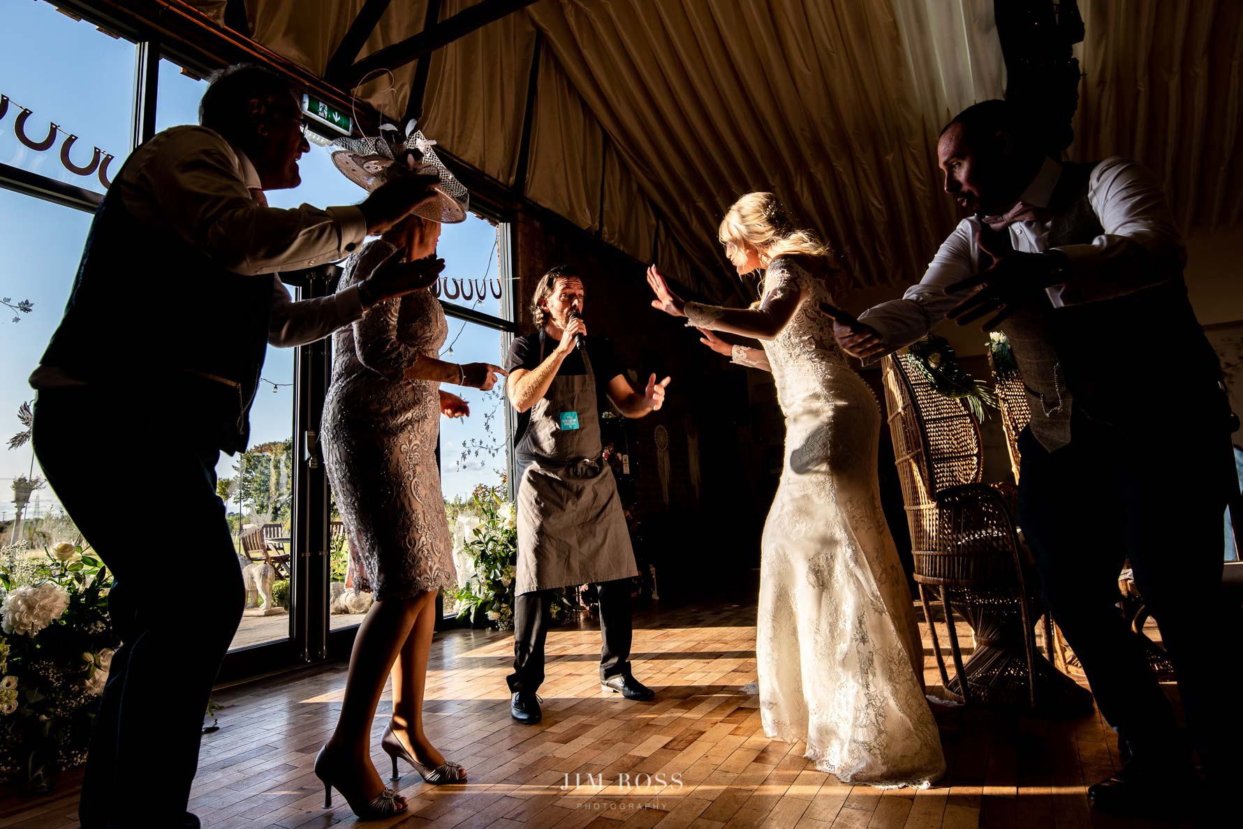 Singing waiters at the Beverley Barn