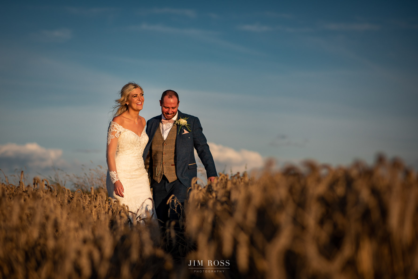 Cornfield wedding photo