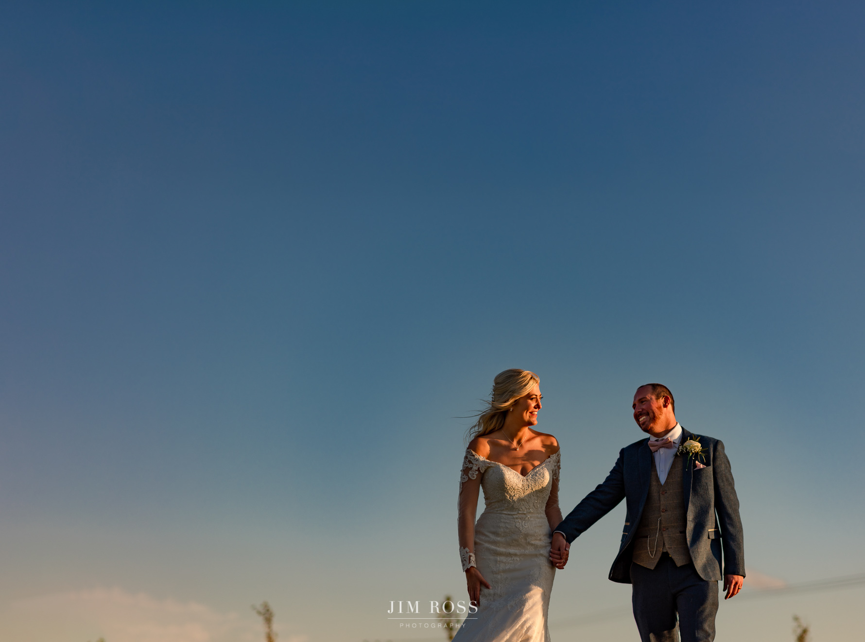 happy couple big sky