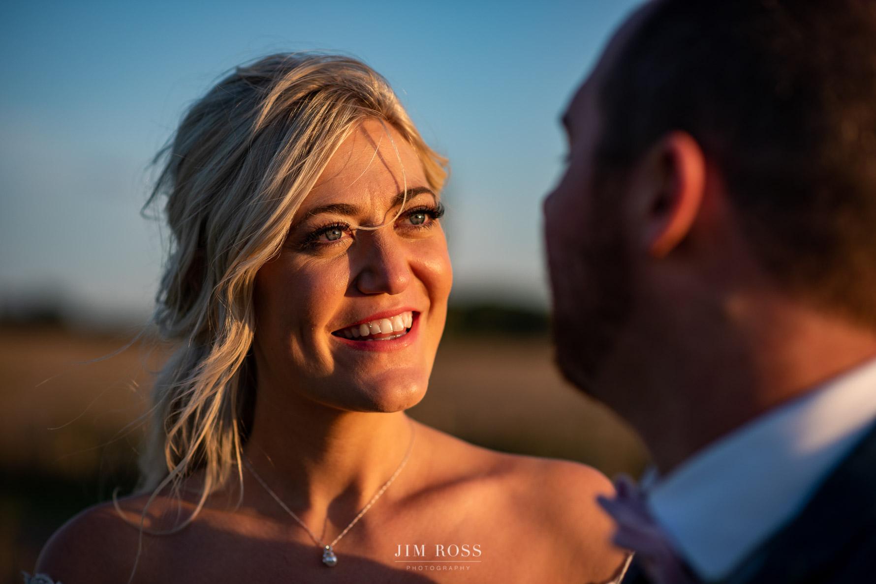 Bride loving look at new husband