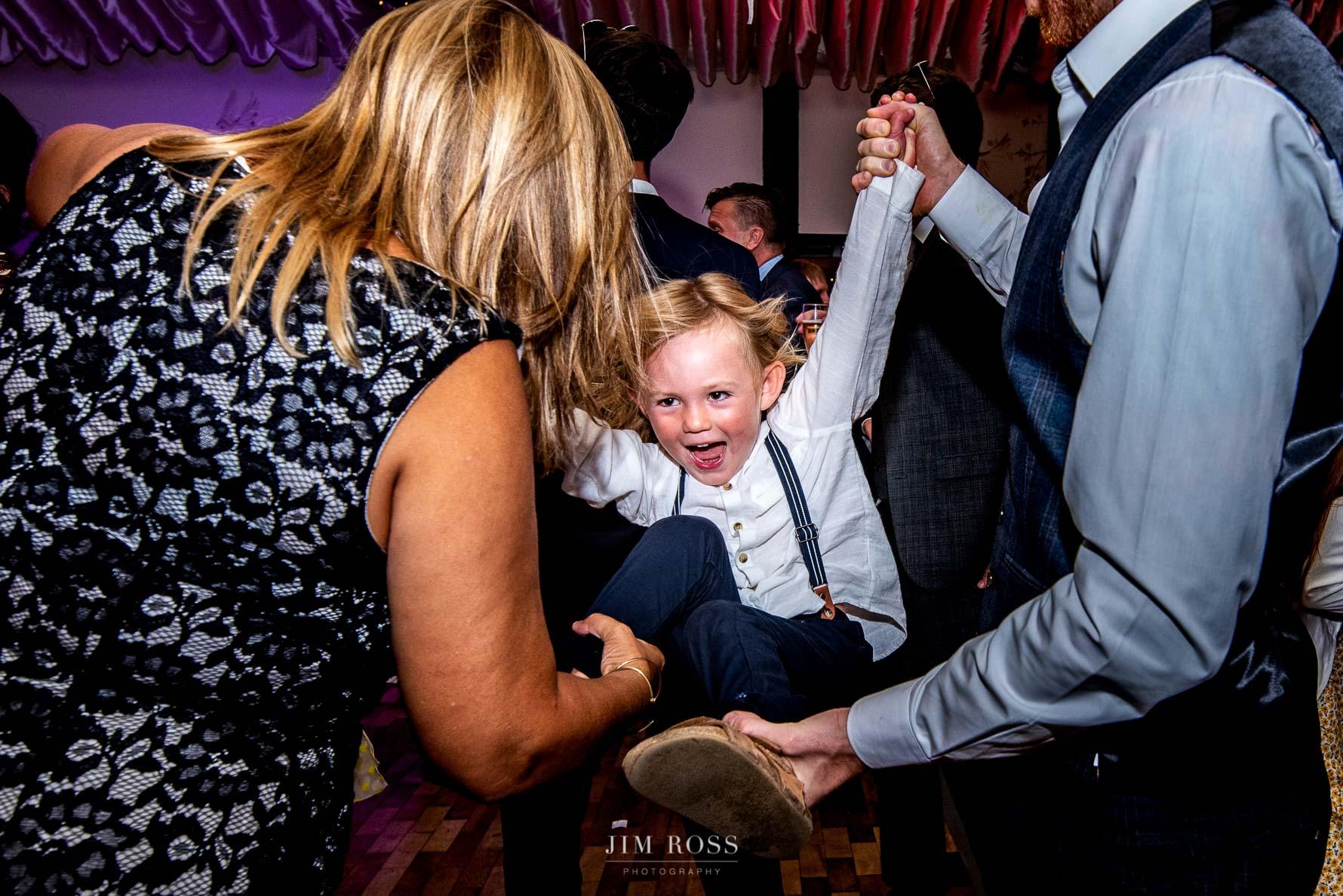 Child on the dance floor
