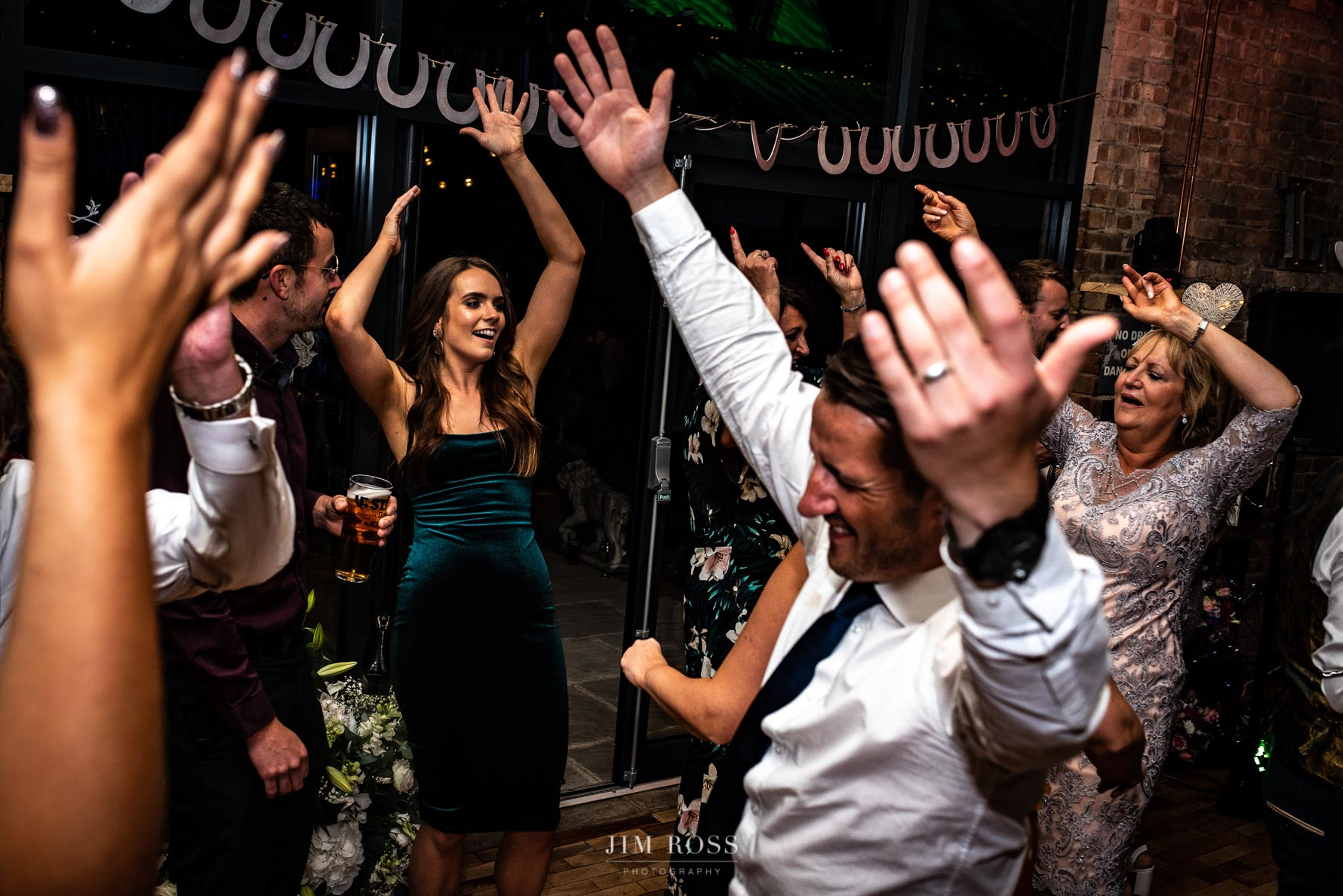Hands in the air Beverley Barn wedding