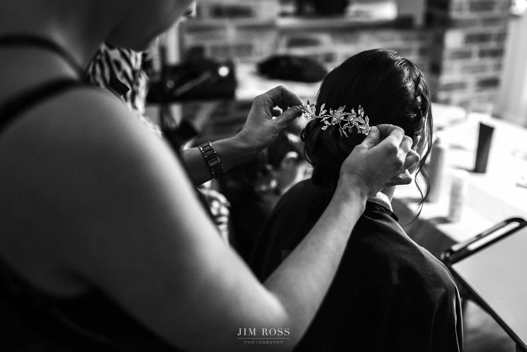 Tiara fitting for bride