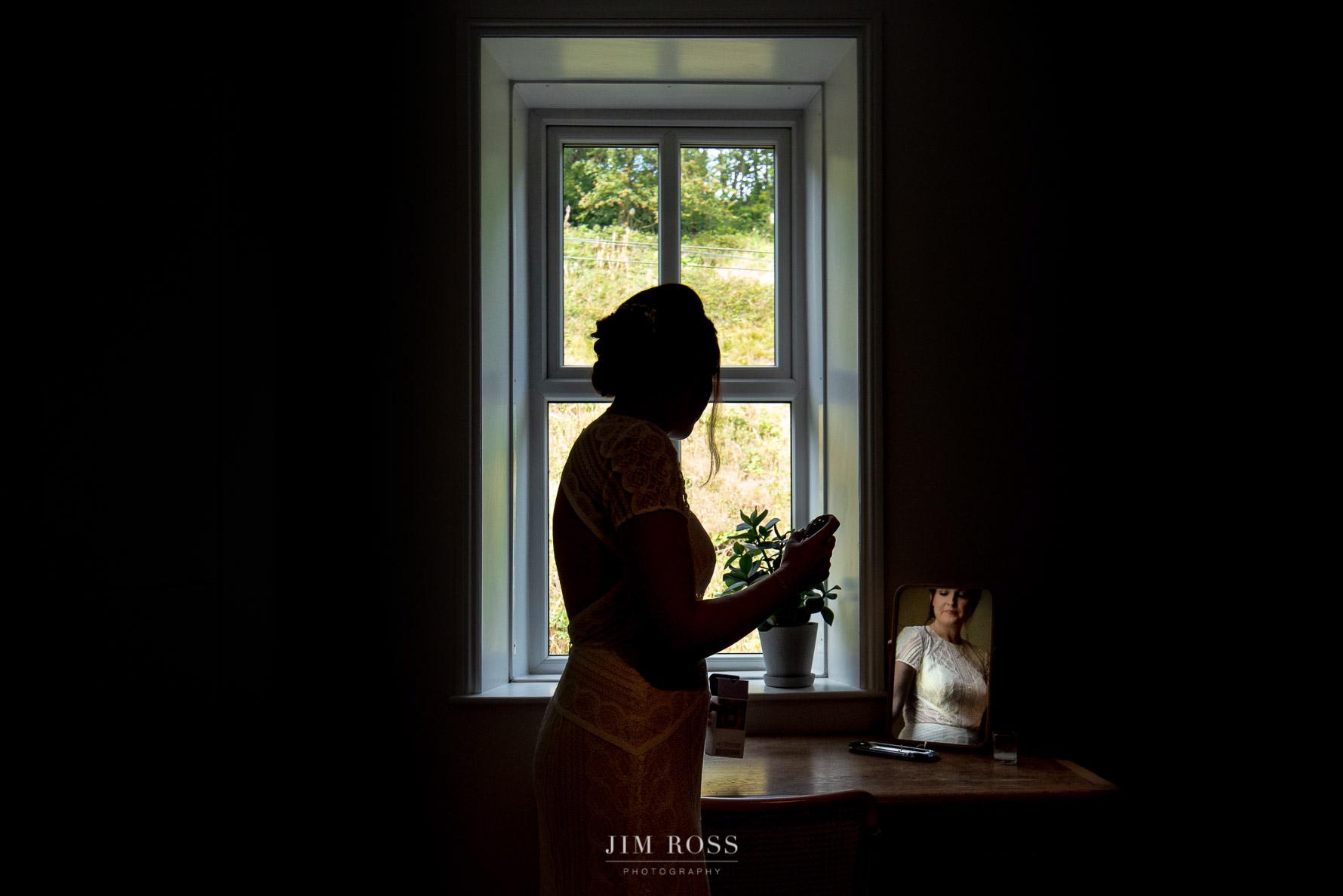 Bride in quiet reflection