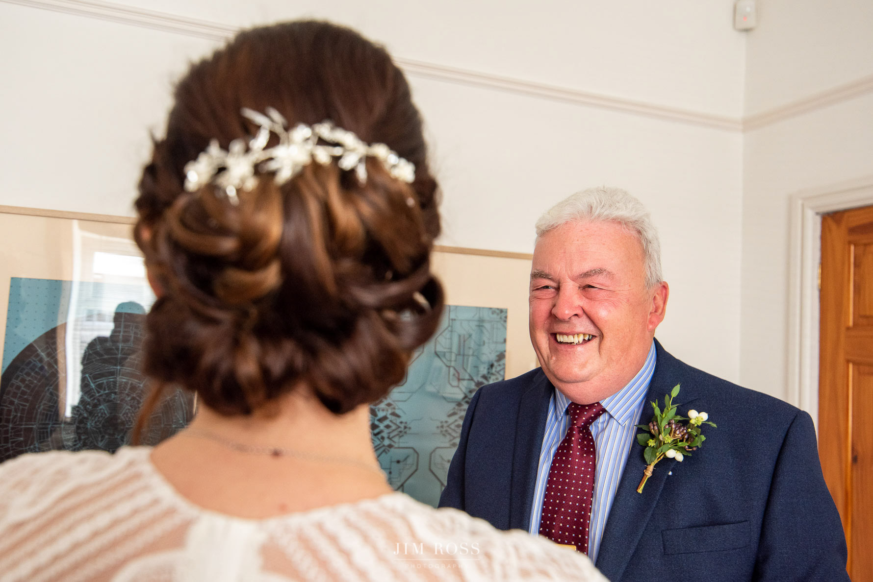 Father of the bride bursting with pride