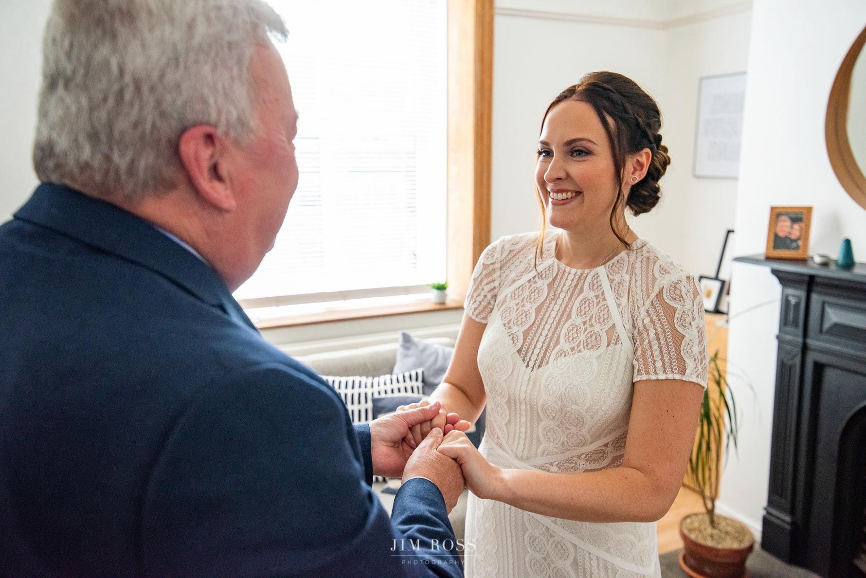 Bride dress reveal to Dad