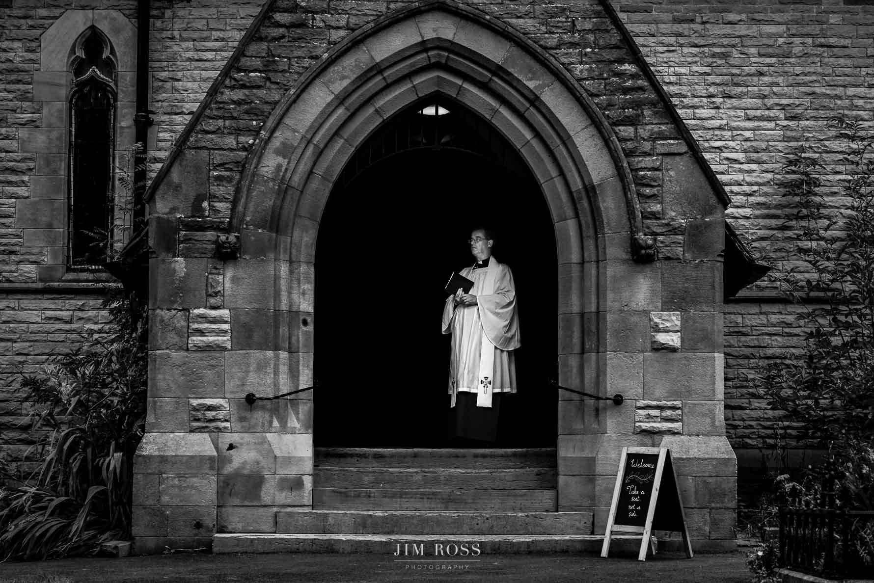 Milnrow church wedding vicar