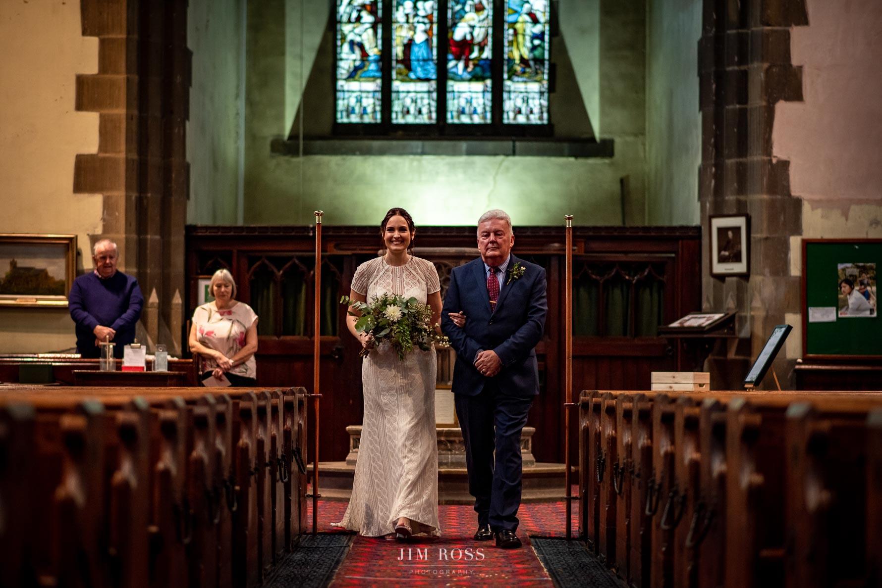 Elegant bride arrival